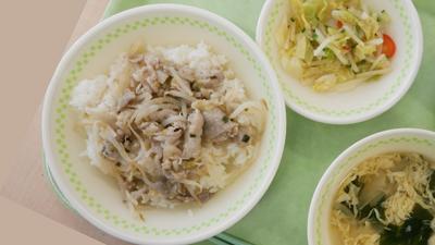 ねぎ塩豚丼(学校給食のレシピ) えどとりブログ